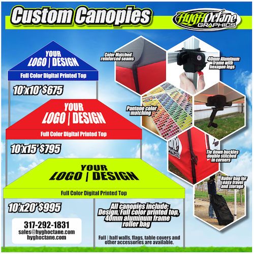 special on custom canopies